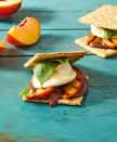 Grilled Peach and Basil S'mores