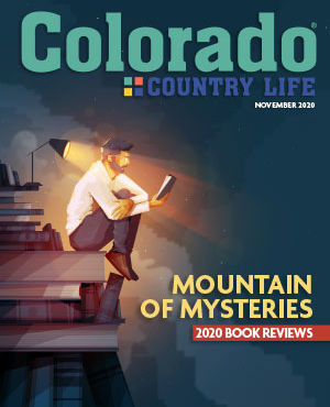 Colorado Country Life November 2020 Cover with an illustration of a man reading