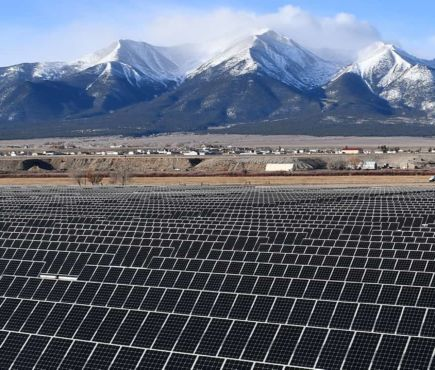 solar panels at Trout Creek installation
