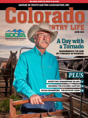 Man on ranch on cover of June 2021 Colorado Country Life