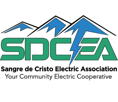 SDCEA Sangre de Cristo Electric Association Your Community Electric Cooperative Logo