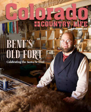 man on cover of september 2021 colorado country life