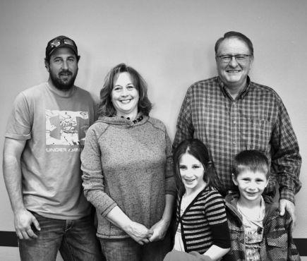Steve Eggleston with family