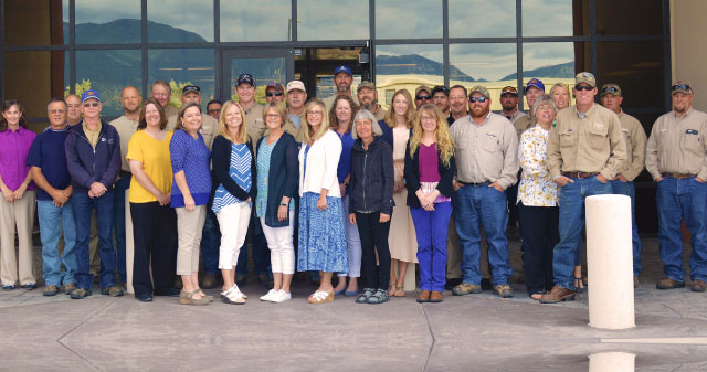 Sangre de Cristo Electric Association, Inc. staff received the 2016 Achievement of Excellence award for Performance in Safety awarded by the Colorado Rural Electric Association.